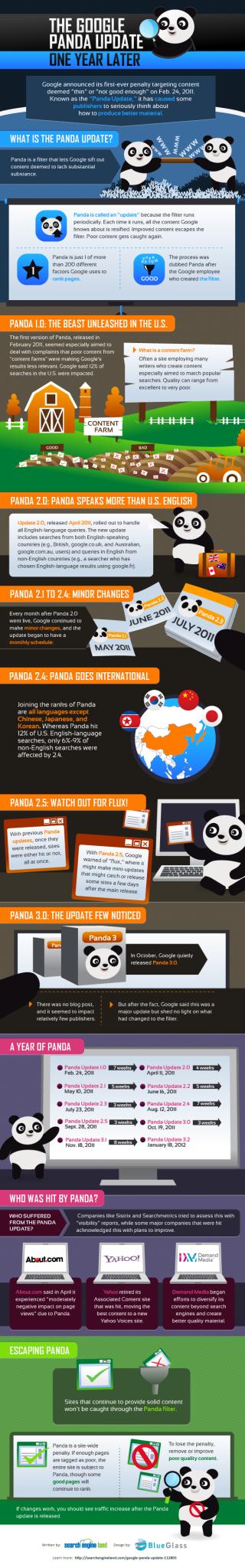 Google Panda Infographic from SearchEngineLand.com