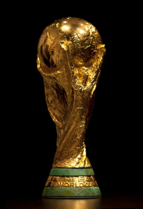 BARCELONA - JAN 14: FIFA World Cup trophy exhibed at the Olympic