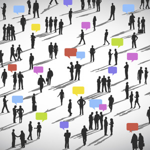 large group of Social Networking People Vector